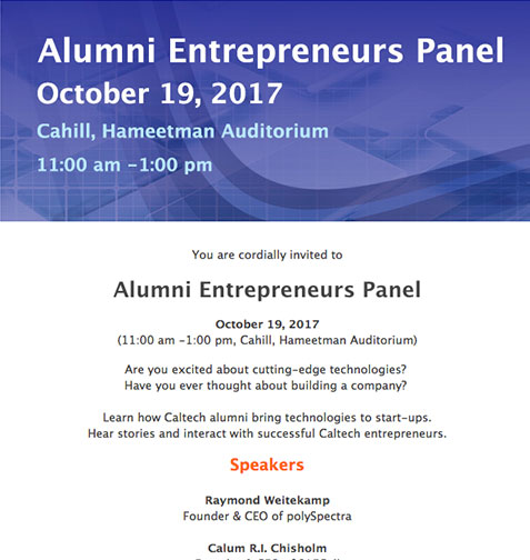 Alumni Entrepreneurs Panel