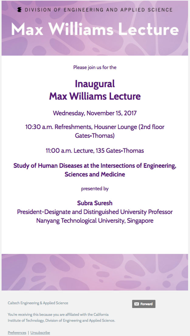 Max Williams Lecture