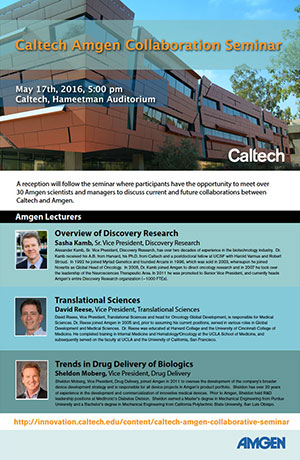 Caltech Amgen Collaboration Seminar