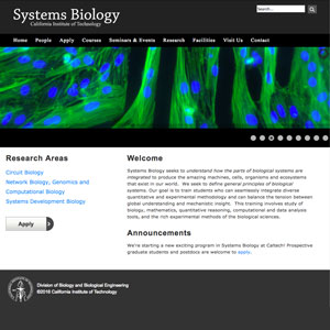 Systems Biology at Caltech